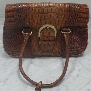 Brahmin Brown Alligator Print Handbag